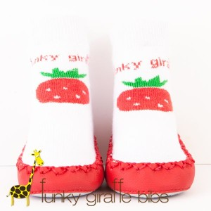 funky strawberrt moccasins