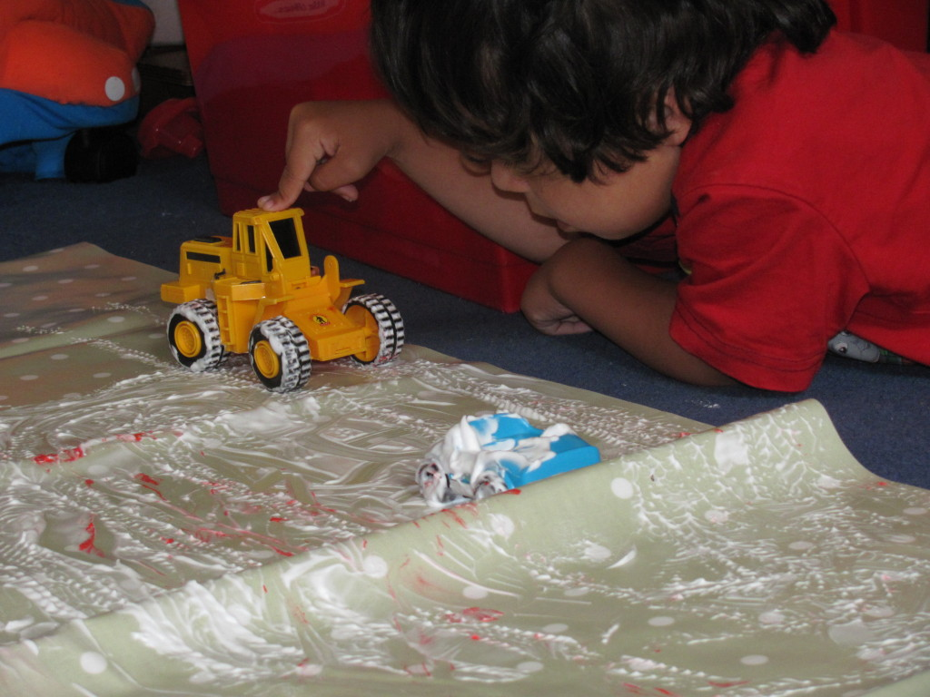 shaving foam messy play