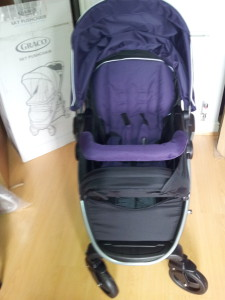 graco sky front purple