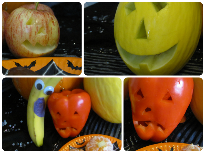 spooky fruit carving
