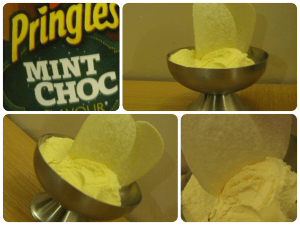 mint choc pringles and ice cream