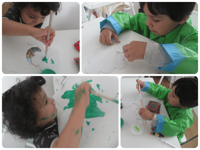 making decorated tree cards