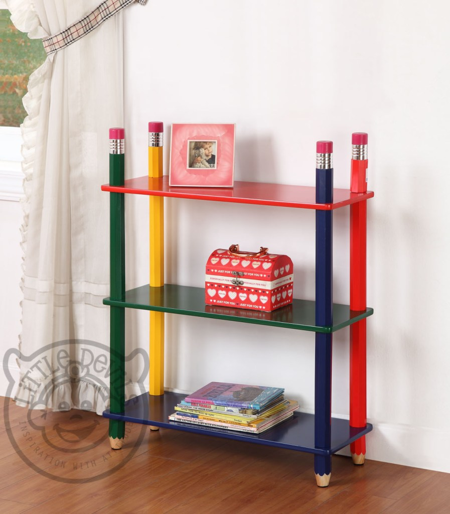 playroom furniture - pencil bookcase