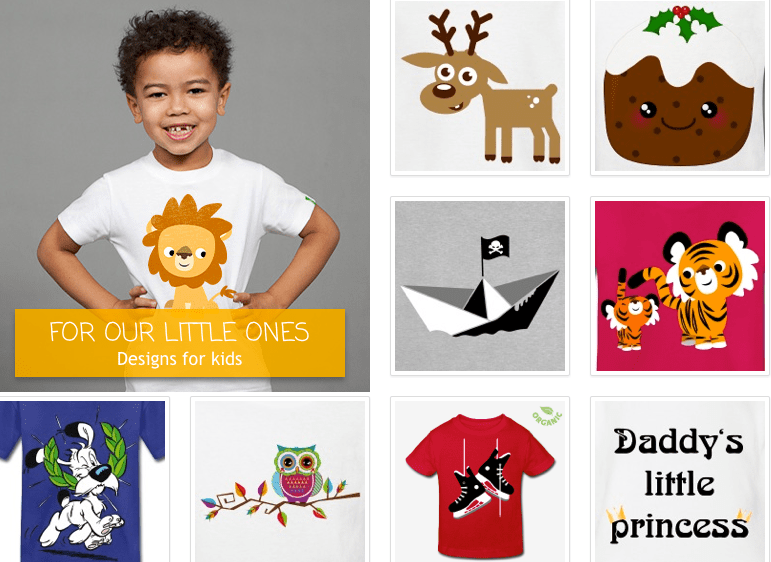 spreadshirt clothes for kids