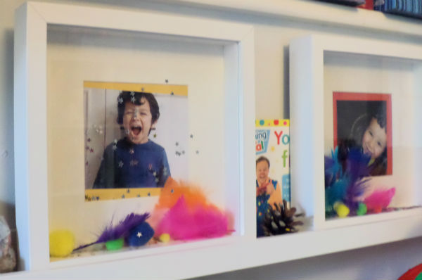 playroom ideas photo shelves