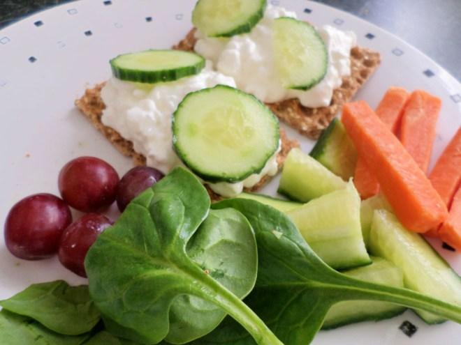 ryvita and salad