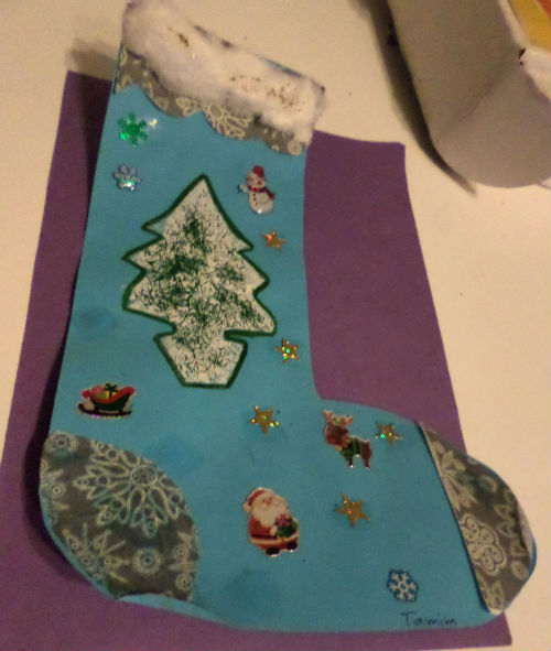 winter crafts stocking