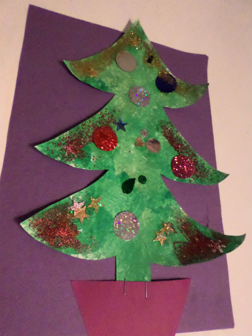 winter crafts christmas tree