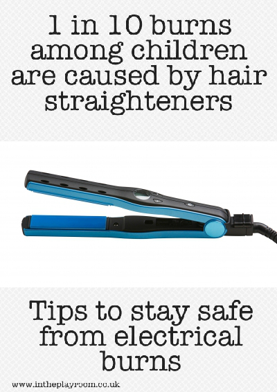 1 in 10 burns among children are caused by hair straighteners