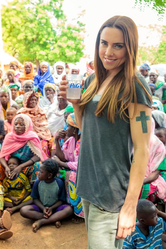 Melanie C P&G and Asda Clean Water Campaign Ambassador