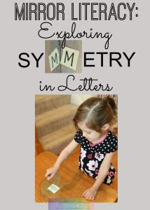 literacy activities with mirror symmetry letters