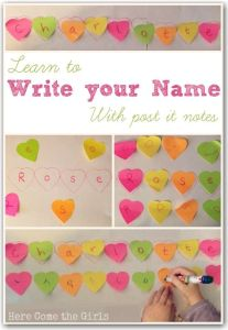 literacy activities with post it notes