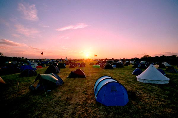 campsite at the wychwood family festival