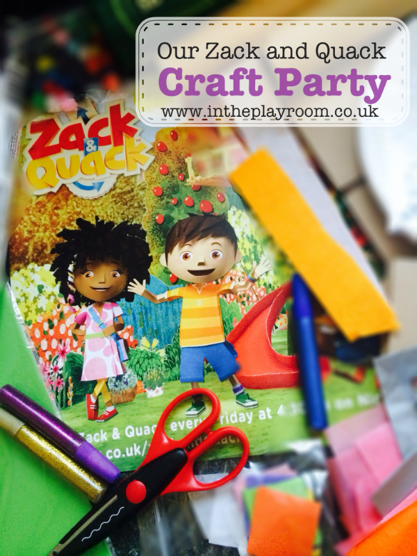 our zack & quack party - craft party