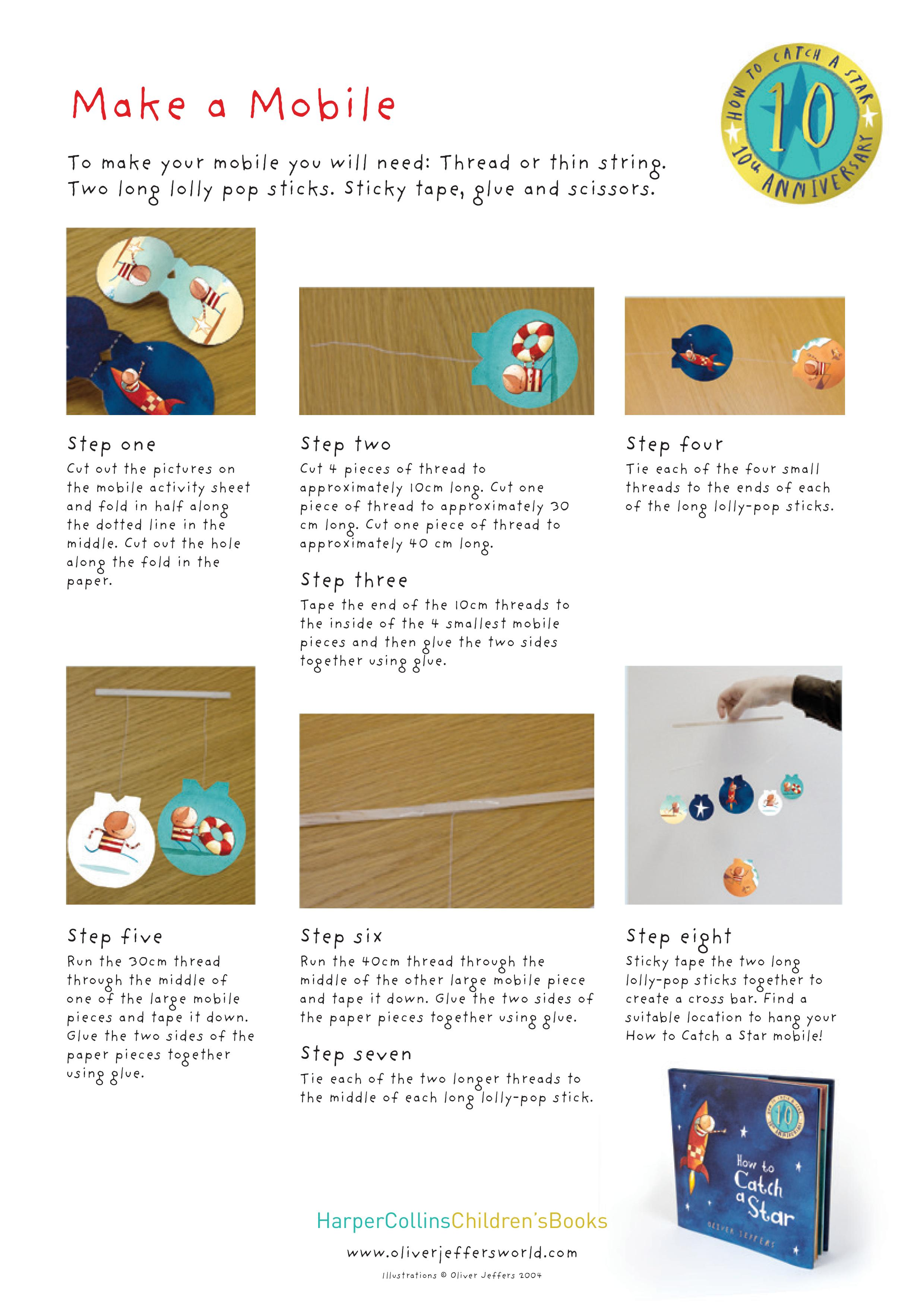 How To Catch A Star Printable Activity Sheets