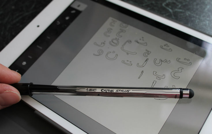 bic cristal stylus and adobe ideas on ipad mini