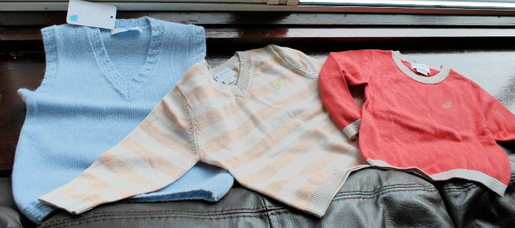 branded baby clothes selection from box upon a time