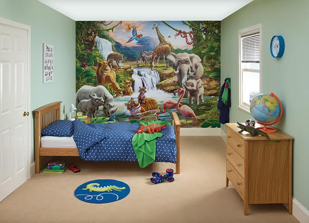 Animal Wallpaper For Kids Bedrooms Mr Z S New Jungle Room With Duluxbedroom In A Box In