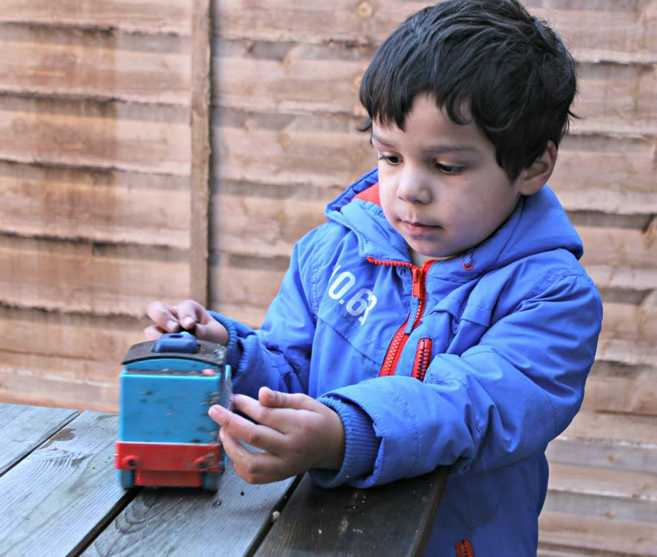 springtime fun with thomas in the garden
