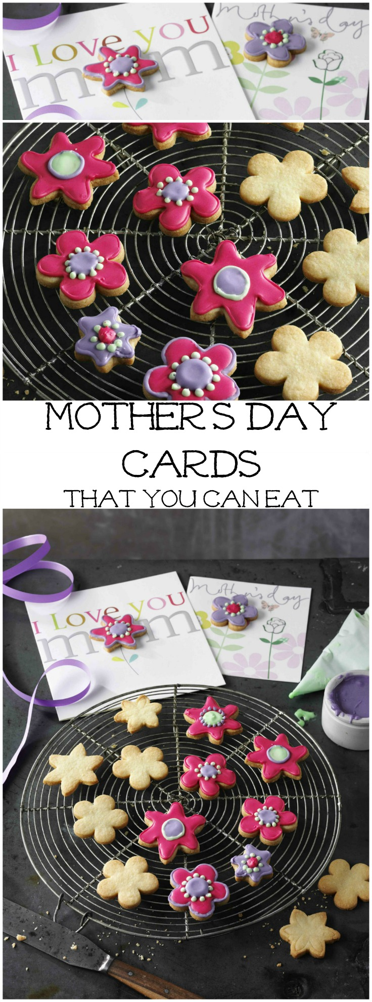 mothers day card with biscuits attached, what a sweet idea