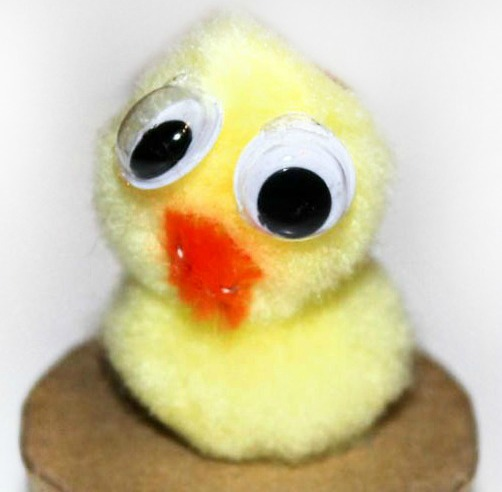 pom pom spring chick gift box