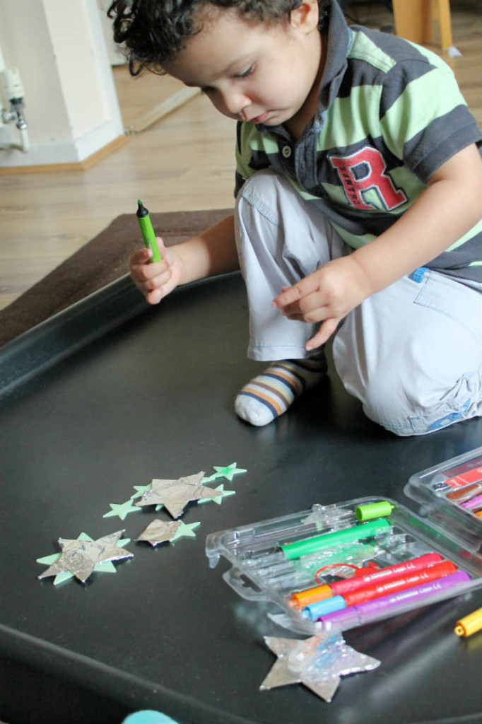 how to catch a star activities drawing on foil