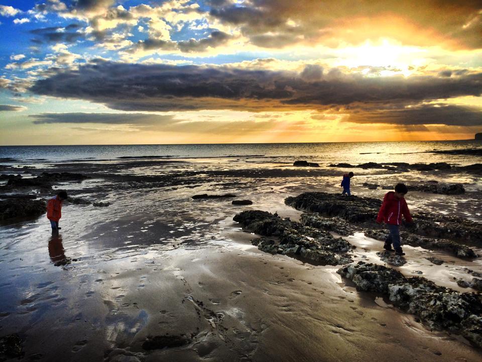 beachy head sunset at beachyhead