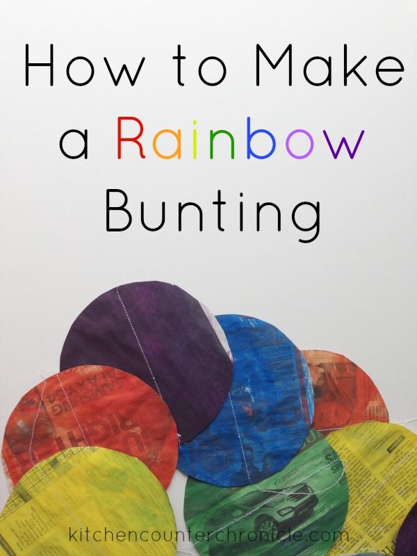 how to make a rainbow bunting colourful craft for kids