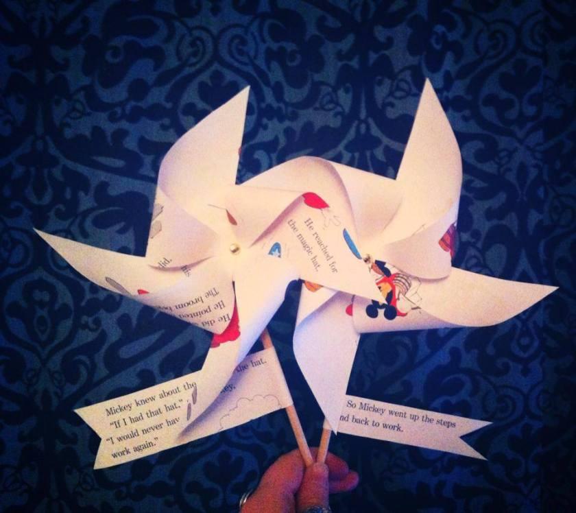 Summer crafts - How to make a seaside pinwheel