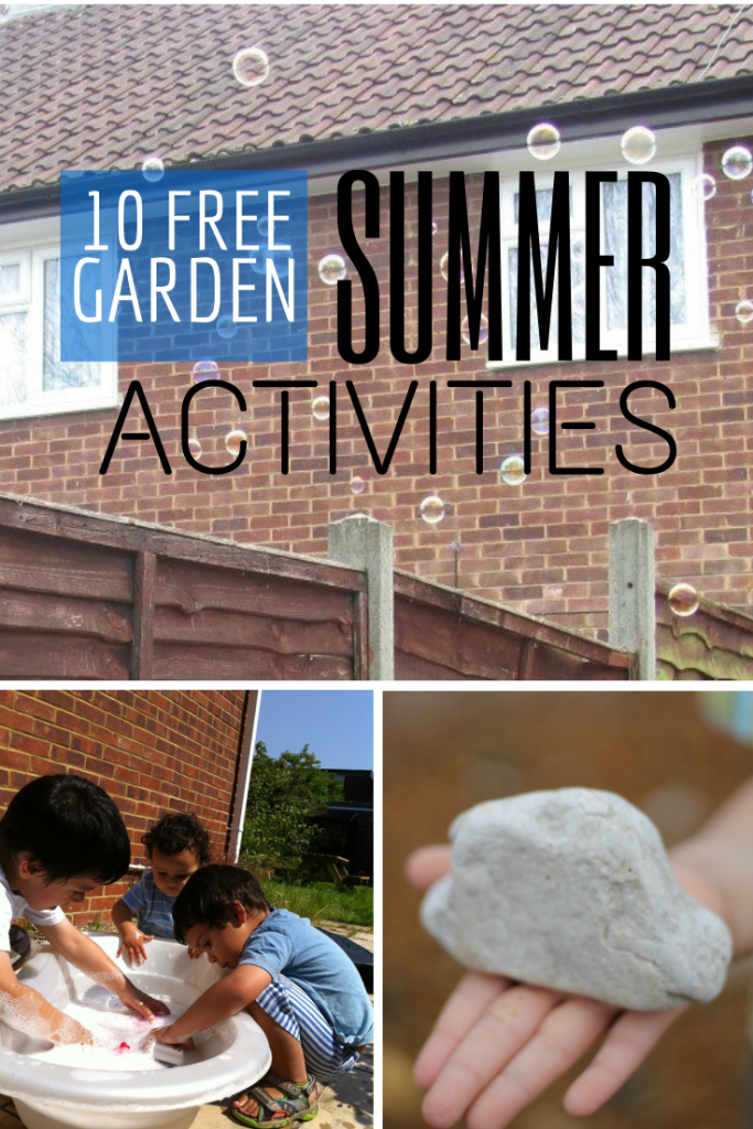 Lots of Fun and free garden activities with kids