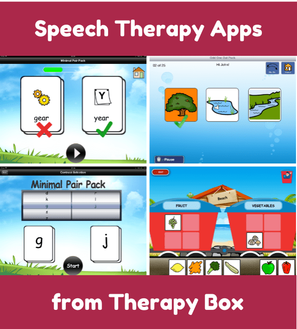 Speech Therapy Apps from Therapy Box