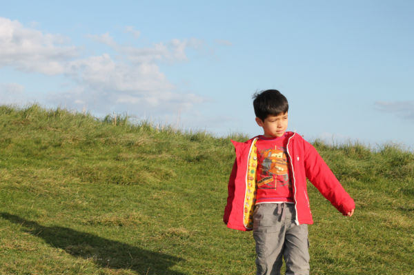 at the top of beachy head cliff