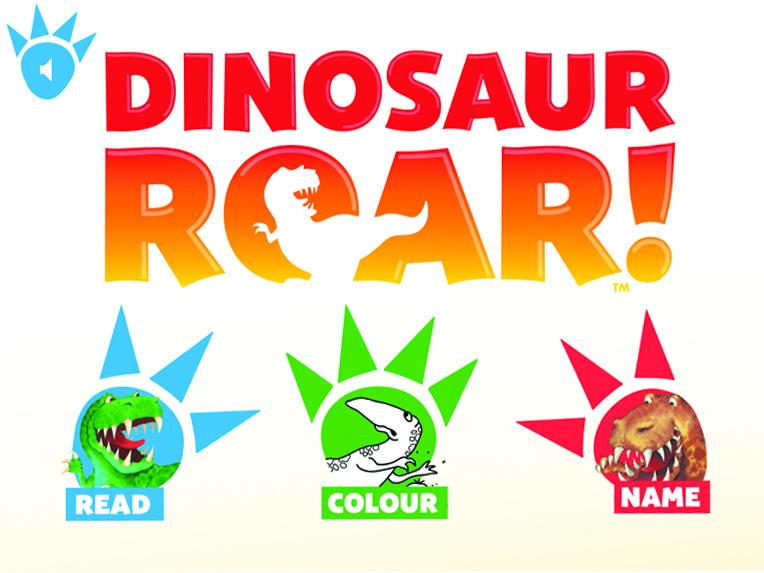 dinosaur roar app menu