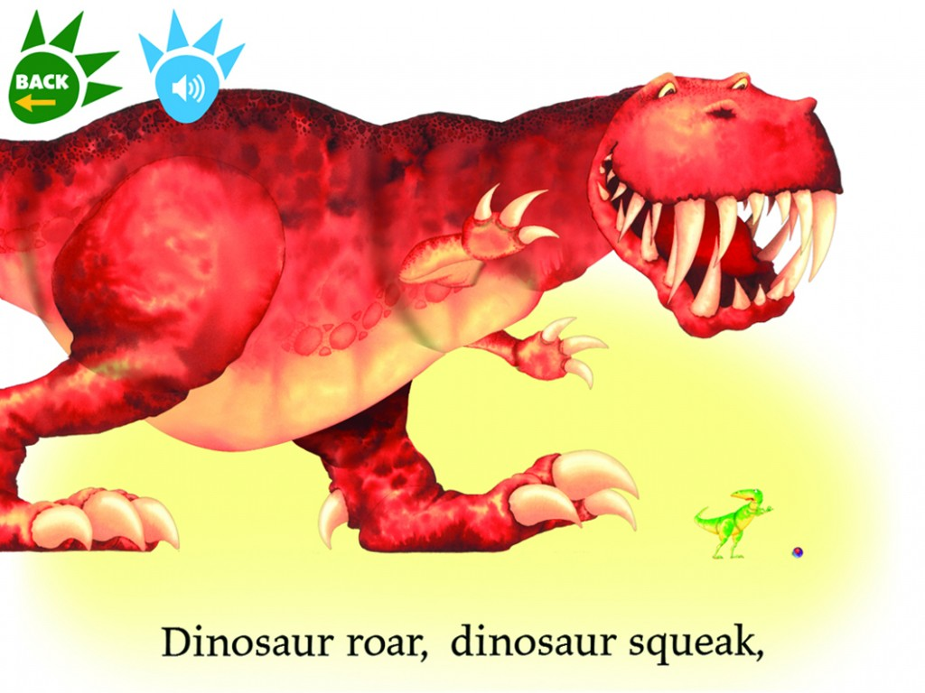 dinosaur roar app with ebook