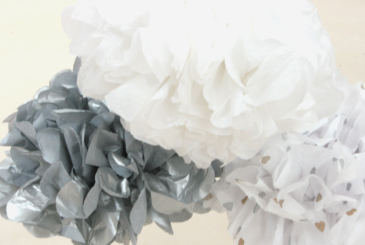 Tissue Paper Poms Poms from Style my Party