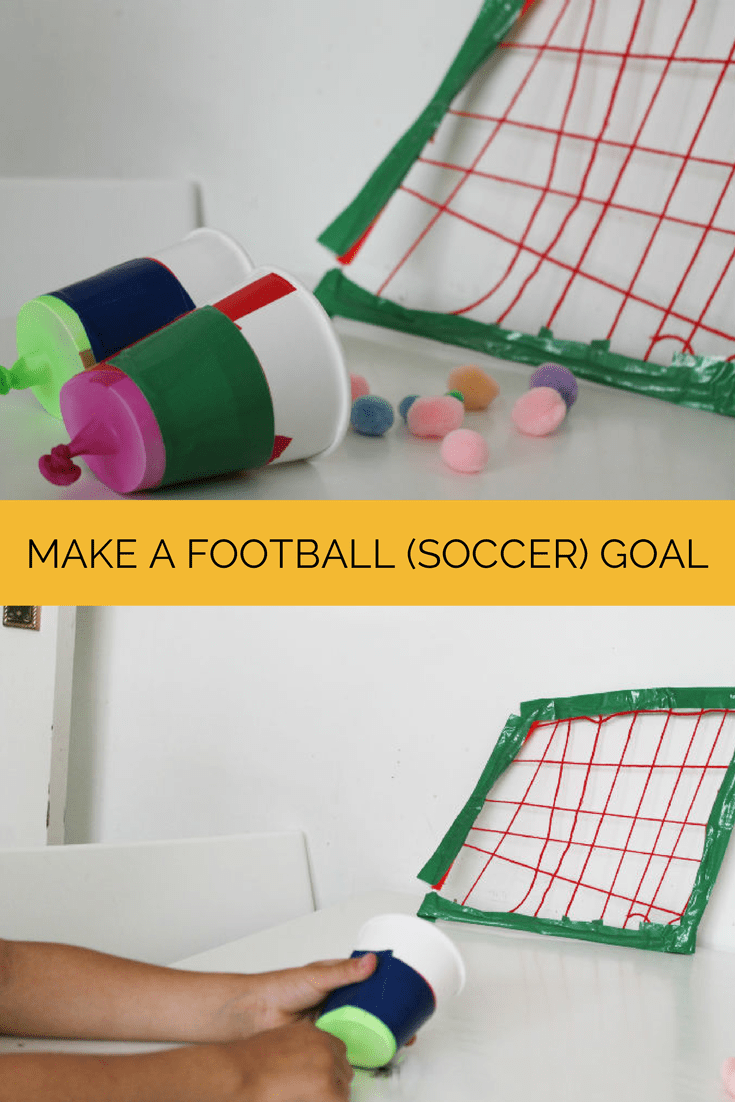 How to make a football goal / soccer goal craft