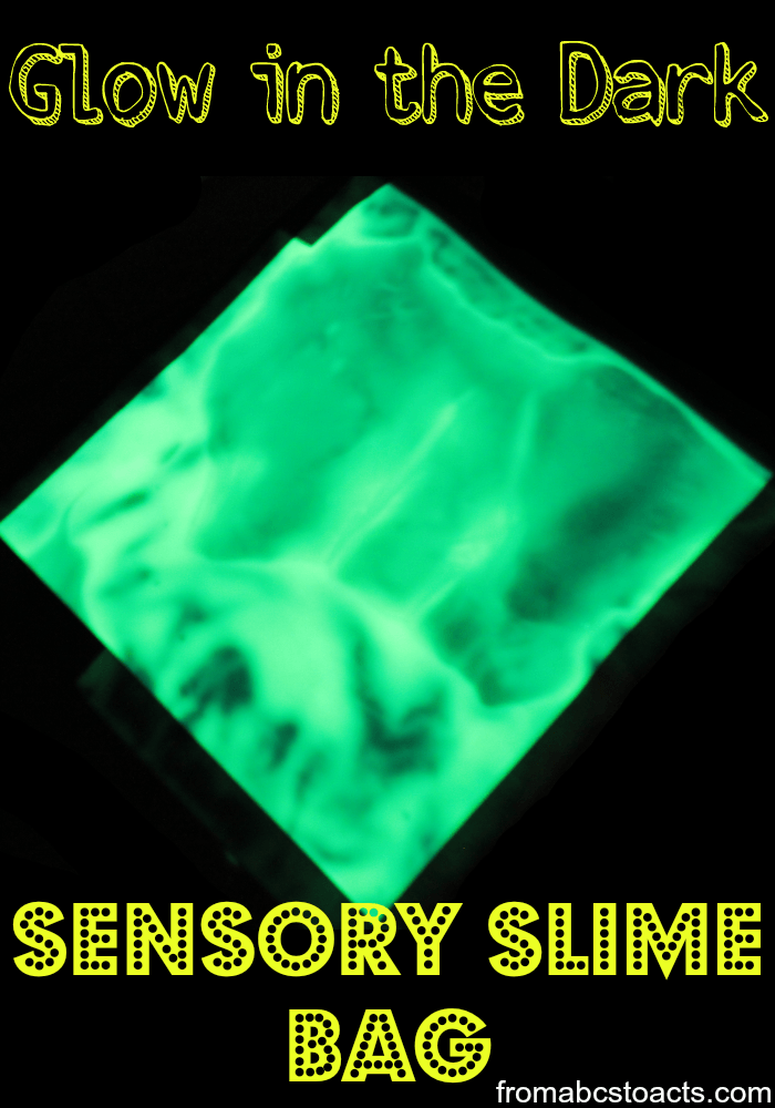 Glow in the Dark Sensory Slime Bag