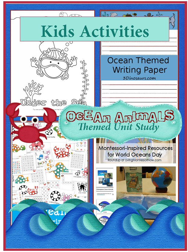 Ocean Animals Kids Activities