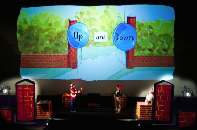 Gaga Theatre Up and Down show based on Oliver Jeffers book