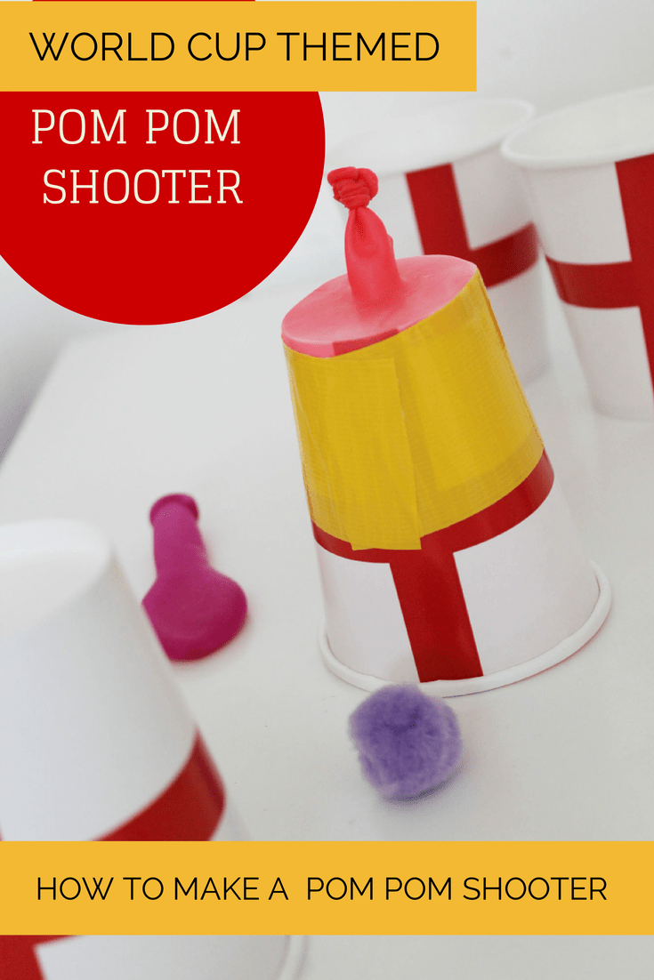 How to make a pom pom shooter - world cup craft (football / soccer)
