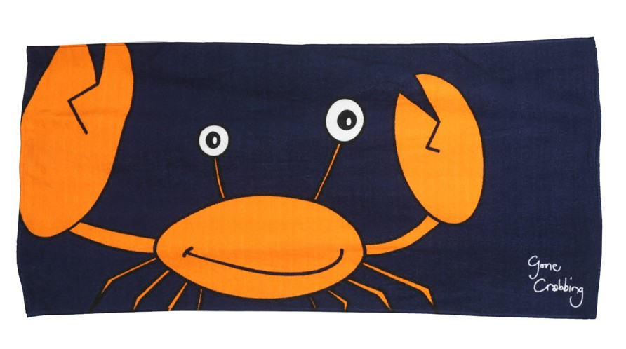 big crab beach towel from Gone Crabbing