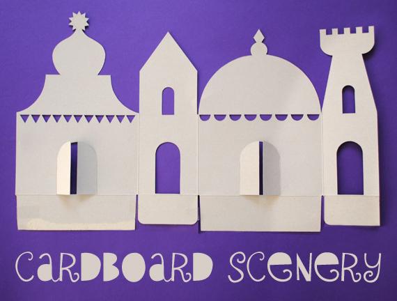 cardboard mosque template