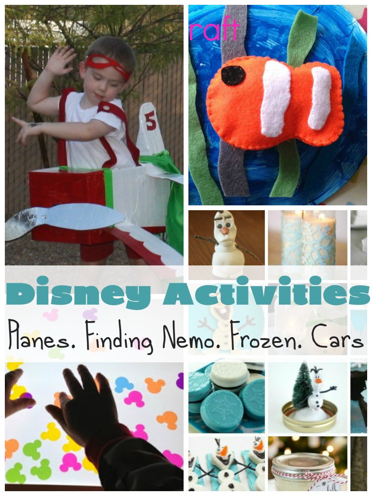 Disney activities for fans of mickey mouse, lightening mcqueen, nemo, disney planes, disney frozen and more