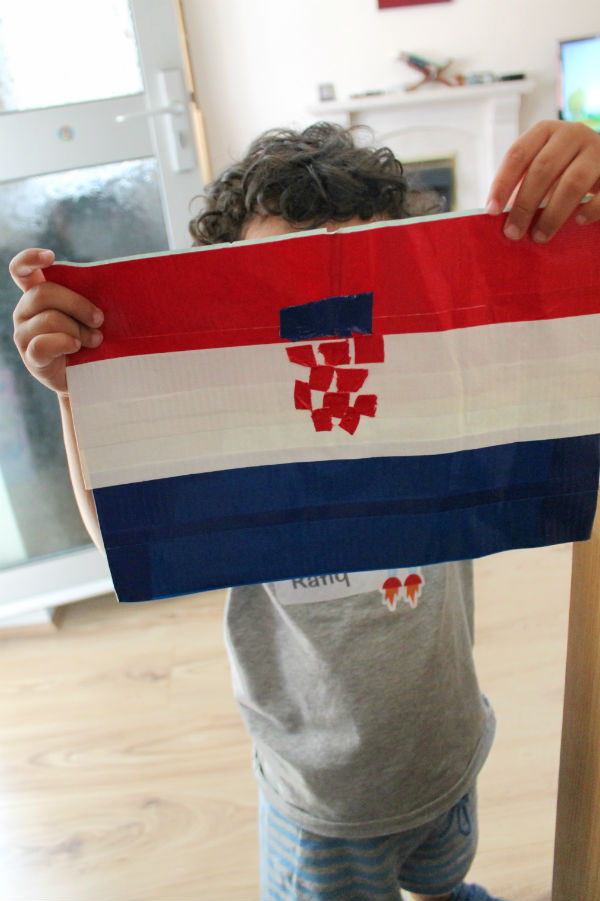 duck tape flag of croatia world cup craft