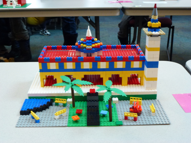 how to make a lego mosque