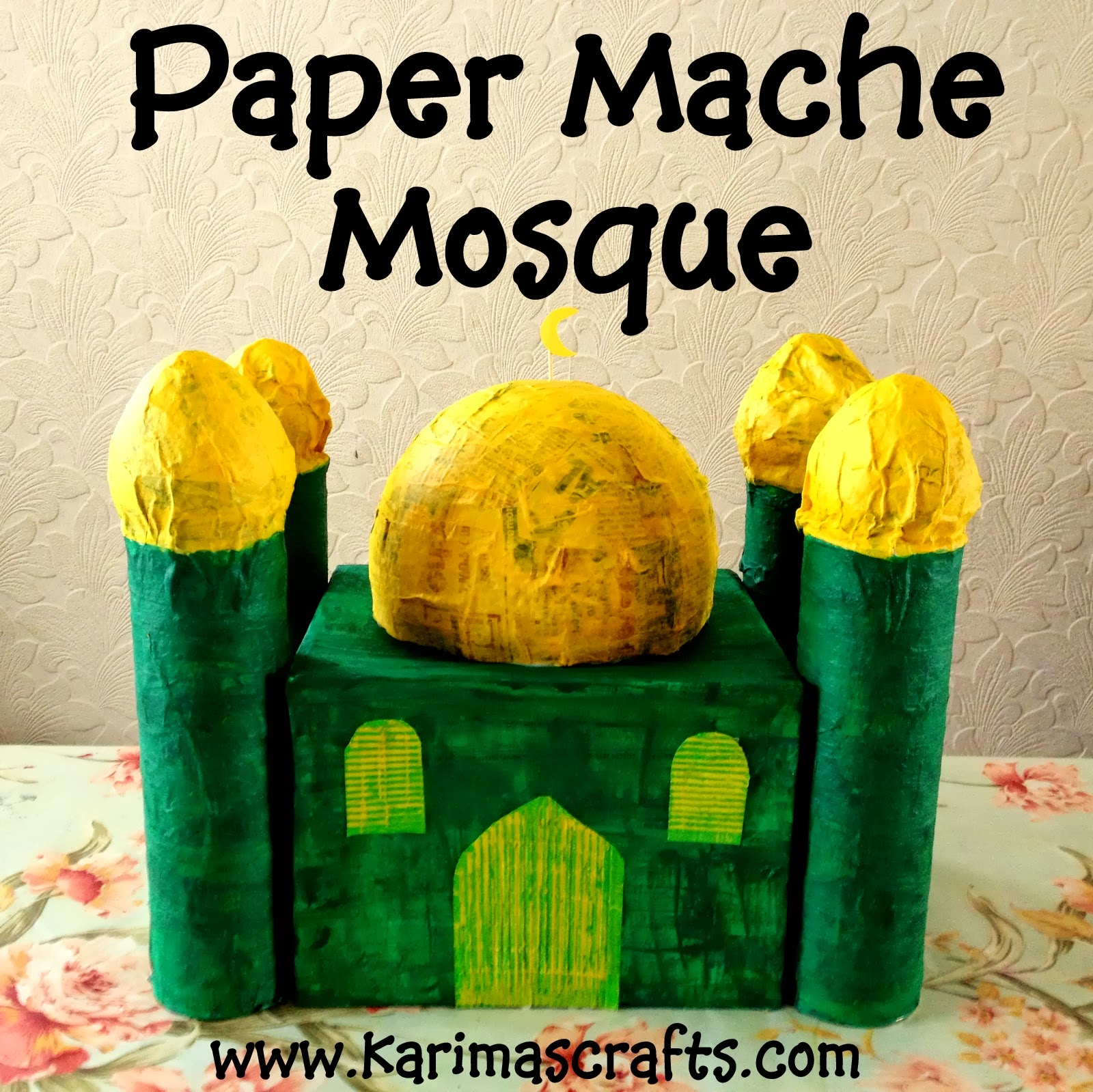 13 creative mosque crafts to make with kids   in the playroom
