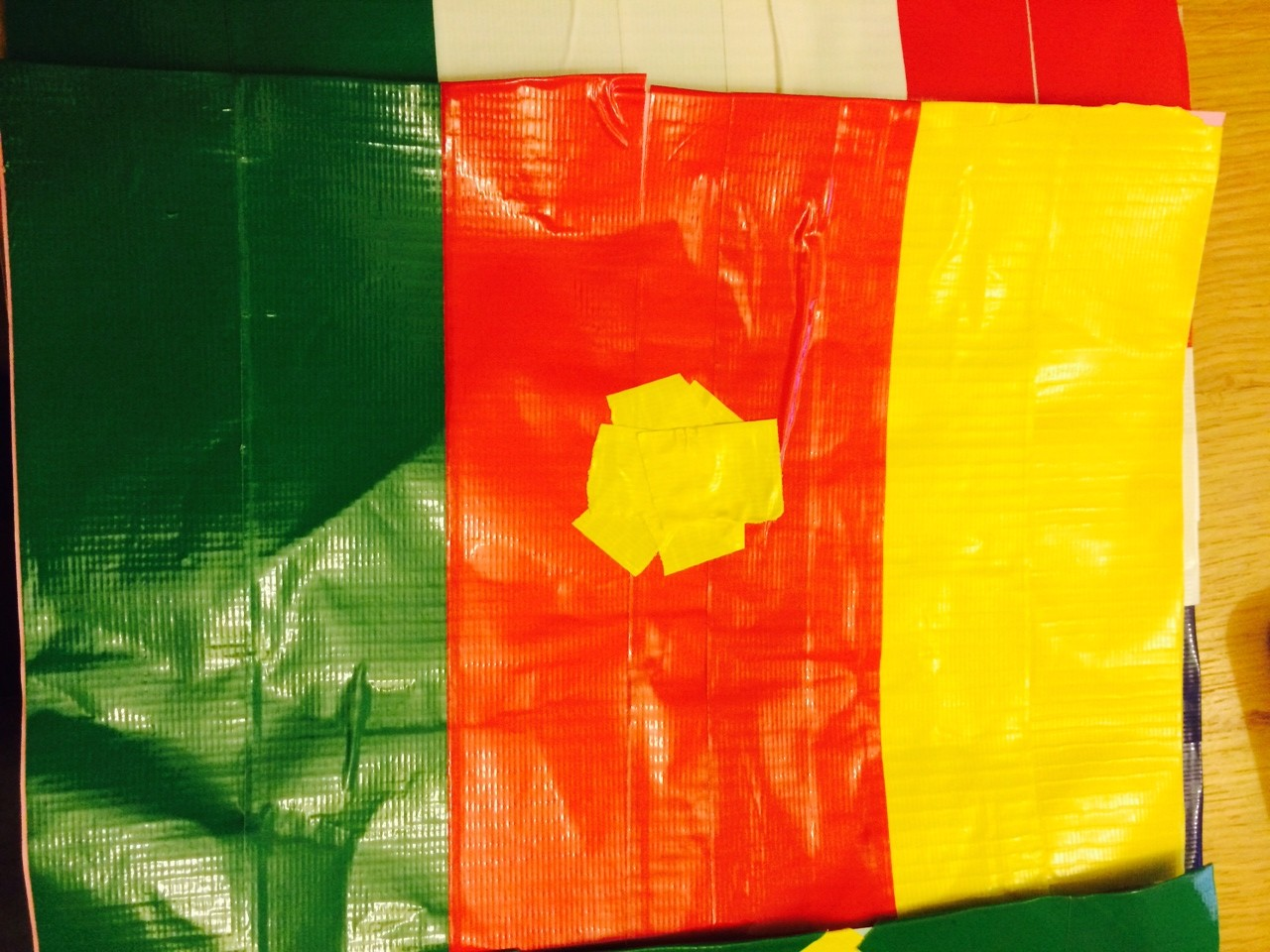 duck tape cameroon flag world cup craft