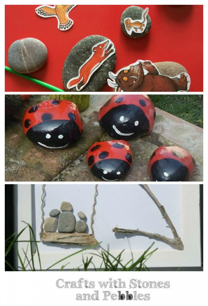 Super cute crafts with rocks, stones and pebbles featured on Tuesday Tutorials