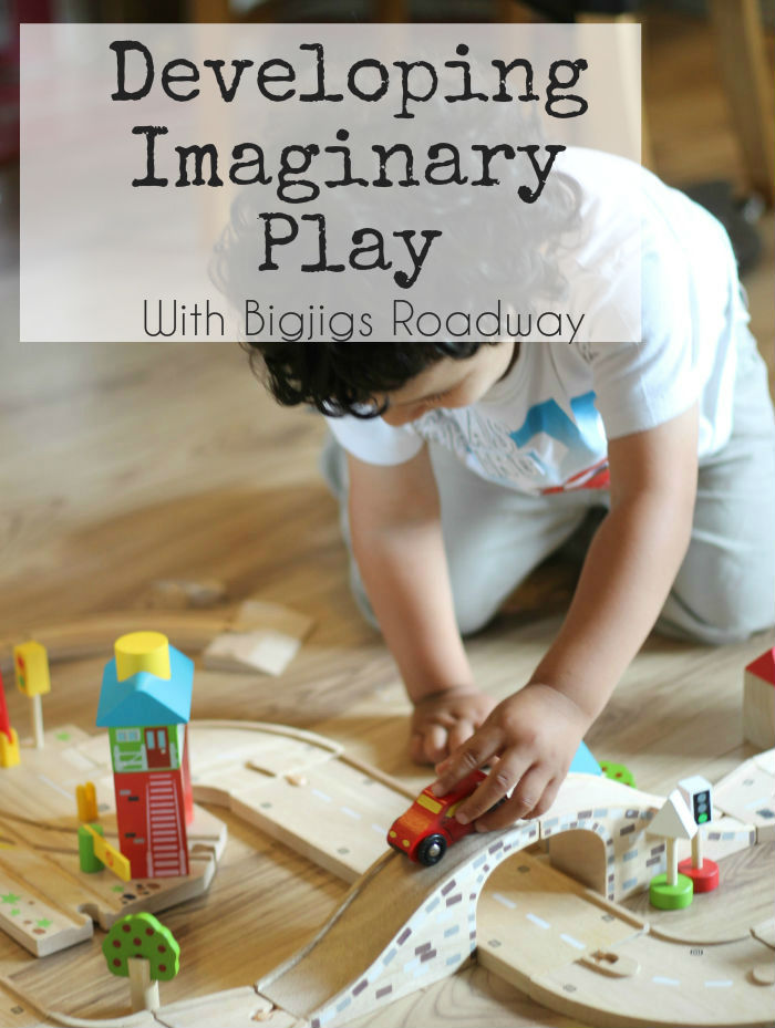 Developing imaginary play with Bigjigs Roadway - a great way to encourage small world pretend play, particularly for boys