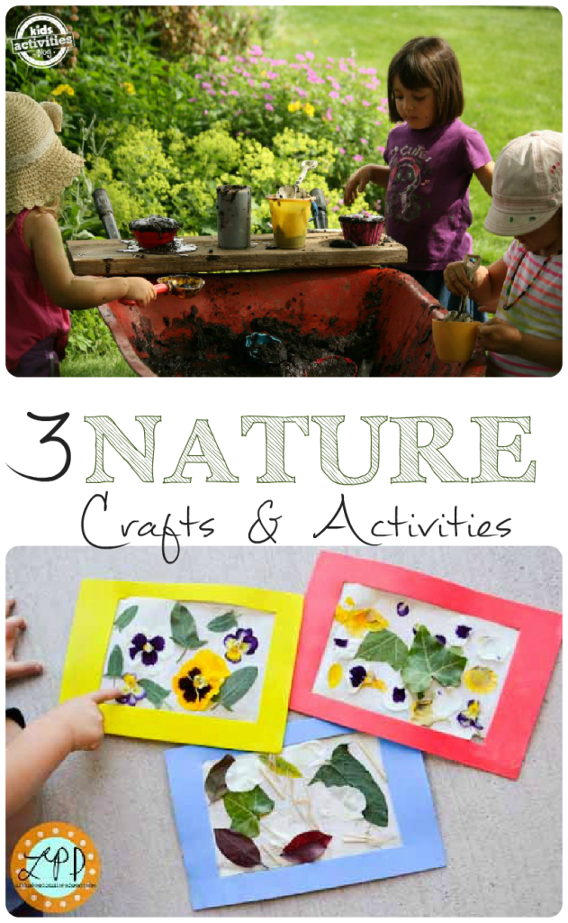 Gorgeous nature crafts and a super fun nature activity for kids, featured on http://intheplayroom.co.uk for Tuesday Tutorials